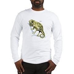 Chameleon Lizard (Front) Long Sleeve T-Shirt