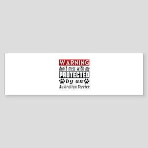 Protected By Australian Terrier D Sticker (Bumper)