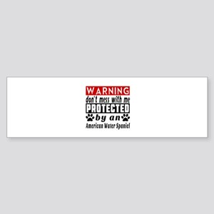 Protected By American Water Spani Sticker (Bumper)