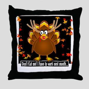 """Reggie Reindeer Turkey"" Throw Pillow"