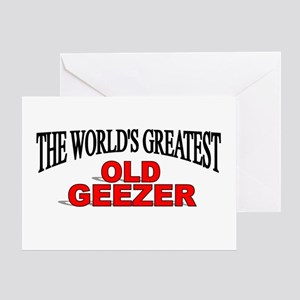 """""""The World's Greatest Old Geezer"""" Greeting Card"""