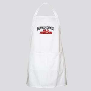 """""""The World's Greatest Old Geezer"""" BBQ Apron"""