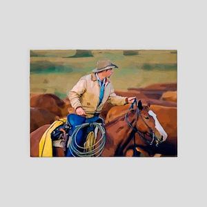 Lone Rider 5'x7'Area Rug