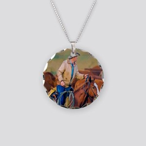 Lone Rider Necklace Circle Charm