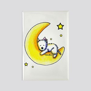 Lunar Love Rectangle Magnet