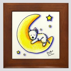Lunar Love Framed Tile