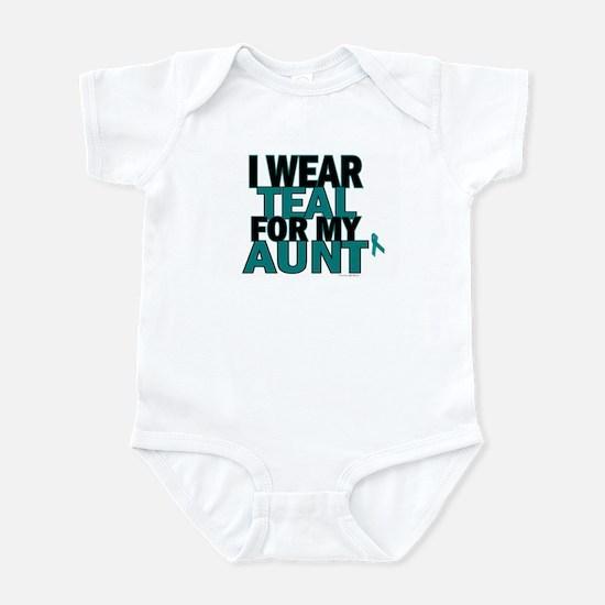 I Wear Teal For My Aunt 5 Infant Bodysuit