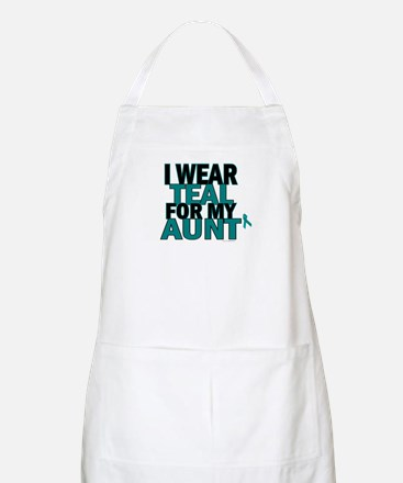 I Wear Teal For My Aunt 5 BBQ Apron