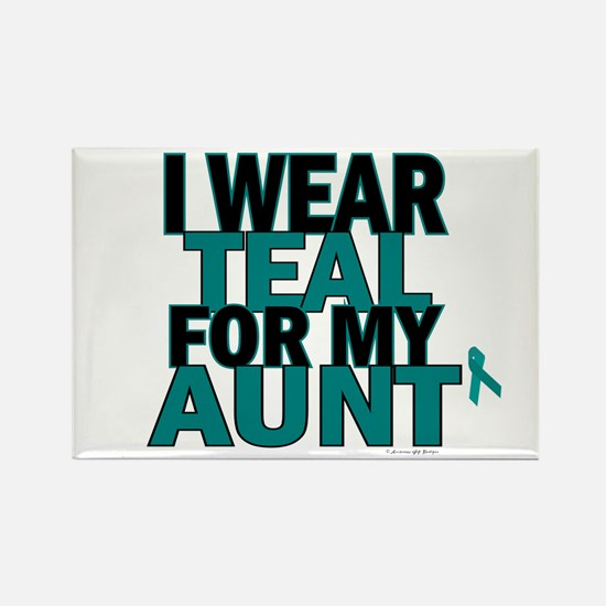 I Wear Teal For My Aunt 5 Rectangle Magnet
