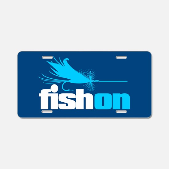 Fish On (fly) Aluminum License Plate
