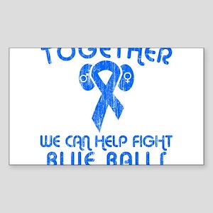 Help Fight Blue Balls Rectangle Sticker