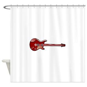 Bass Guitar Shower Curtains