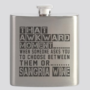 Sangria Wine Awkward Designs Flask