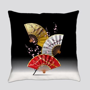 Japanese Cherry Fans Everyday Pillow