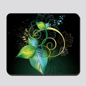 Abstract Decorative Floral Mousepad