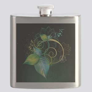 Abstract Decorative Floral Flask