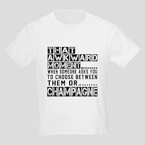 Champagne Awkward Designs Kids Light T-Shirt