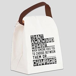Champagne Awkward Designs Canvas Lunch Bag