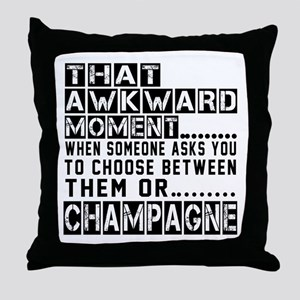 Champagne Awkward Designs Throw Pillow