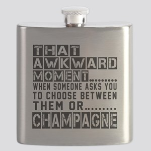 Champagne Awkward Designs Flask