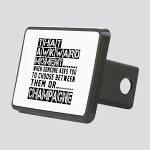 Champagne Awkward Designs Rectangular Hitch Cover