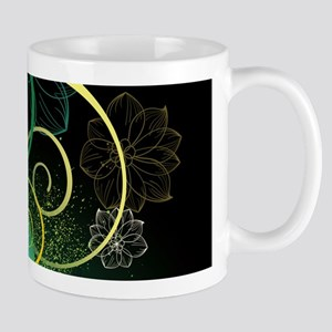 Abstract Decorative Floral Mugs