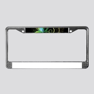 Abstract Decorative Floral License Plate Frame