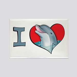 I heart dolphins Rectangle Magnet