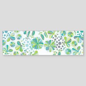 Floral Doodle Bumper Sticker