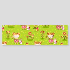 Cute Kids Pattern Bumper Sticker
