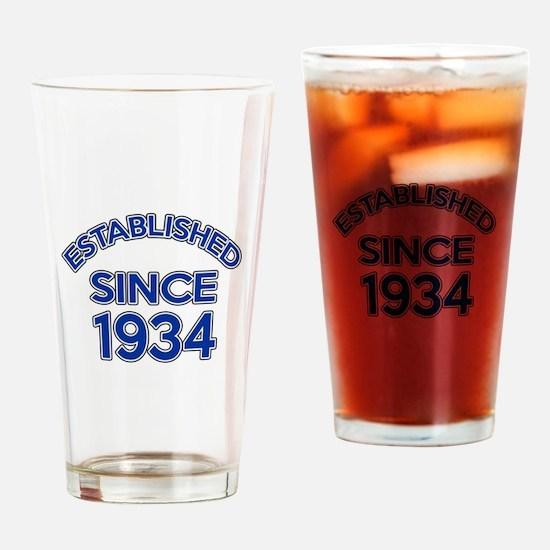 Established Since 1934 Drinking Glass