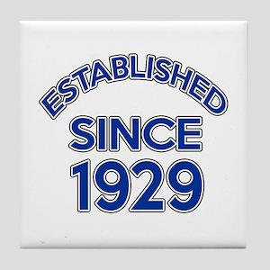 Established Since 1929 Tile Coaster