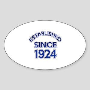 Established Since 1924 Sticker (Oval)
