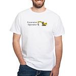 Excavator Operator White T-Shirt