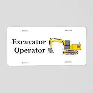 Excavator Operator Aluminum License Plate