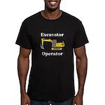 Excavator Operator Men's Fitted T-Shirt (dark)