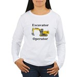 Excavator Operator Women's Long Sleeve T-Shirt