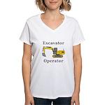 Excavator Operator Women's V-Neck T-Shirt