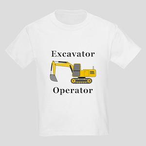Excavator Operator Kids Light T-Shirt