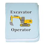 Excavator Operator baby blanket