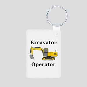 Excavator Operator Aluminum Photo Keychain