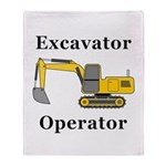 Excavator Operator Throw Blanket