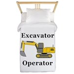 Excavator Operator Twin Duvet