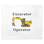 Excavator Operator King Duvet