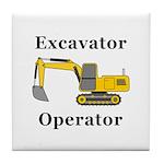 Excavator Operator Tile Coaster