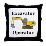 Excavator Operator Throw Pillow