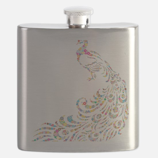 Funny Peacock Flask