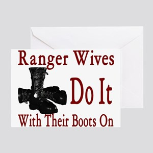 ranger wives do it with there boots on Greeting Ca