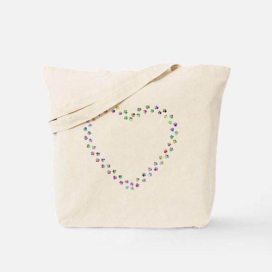 Unique Black heart Tote Bag
