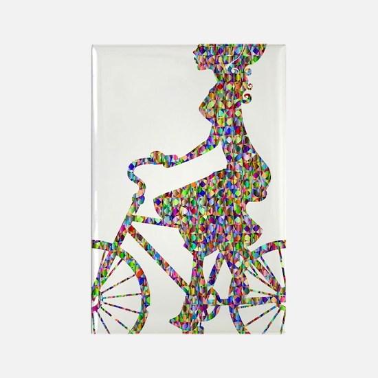 Unique Cyclists Rectangle Magnet